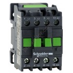 Contactor EasyPact TVS, 3P with (1 N/O) auxiliary contacts, 240V AC coi 50 Hz, 9A
