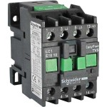 Contactor EasyPact TVS, 3P with (1 N/O) auxiliary contacts, 220V AC coil 60 Hz, 18A