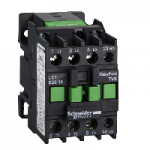 Contactor EasyPact TVS, 3P with (1 N/O) auxiliary contacts, 110V AC coil 60 Hz, 25A