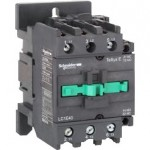 Contactor EasyPact TVS, 3P with (1 N/C + 1 N/O) auxiliary contacts, 220V AC coil 50 Hz, 40A
