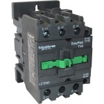 Contactor EasyPact TVS, 3P with (1 N/C + 1 N/O) auxiliary contacts, 220V AC coil 50 Hz, 65A