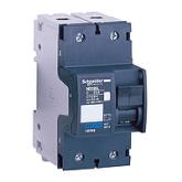 Миниатюрен автоматичен прекъсвач NG125L, 2P, 25A, C, 50kA