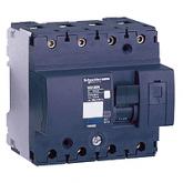 Миниатюрен автоматичен прекъсвач NG125L, 4P, 16A, D, 50kA