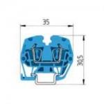 Проходна клема WKMF 2,5/15, 2.5 mm², Синя