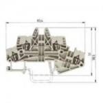 Двуетажна клема WKF 1.5E/35 1.5 mm², Сива