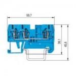 Двойна модулна клема WKFN 2,5 D1/2/35, 2.5 mm², Синя