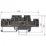 Двуетажна клема WKFN 2,5 E1/2/VB/35, 2.5 mm², Черна