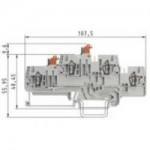 Клема с разединител WKFN 2.5 TKM E2/35 2.5 mm², Сива