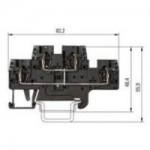 Двуетажна клема WKFN 2,5 E/VB/35, 2.5 mm², Черна