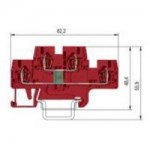 Специална клема WKFN 2.5 E/35/G2 с диод, 2.5 mm², Червена