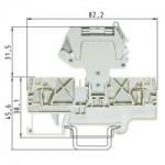 Клема за предпазител WKFN 4 TKG / 35 4 mm², Сива