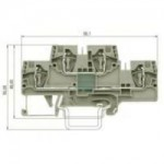 Двуетажна клема WKFN 4 E/35, 4 mm², Сива