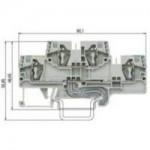 Двуетажна клема, combined WKFN 4 E/N/SK/35, 4 mm², Сива