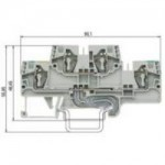 Двуетажна клема, combined WKFN 4 E/D/SL/35, 4 mm², Сива