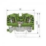 Заземителна клема WKF 4 SL/ 35 /V0, 4 mm², Жълто-зелена