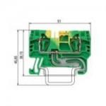 Заземителна клема WKFN 4 SL/35, 4 mm², Жълто-зелена