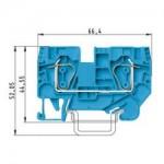 Проходна пружинна клема WKFN 6/35, 6 mm², Синя