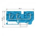 Проходна пружинна клема WKFN 6 D1/2/35, 6 mm², Синя