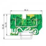 Заземителна клема WKFN 6 SL/35, 6 mm², Жълто-зелена