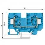 Проходна пружинна клема WKFN 16/35, 16 mm², Синя