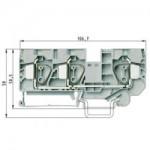 Проходна пружинна клема WKFN 16 D1/2/35, 16 mm², Сива