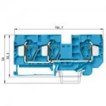 Проходна пружинна клема WKFN 16 D1/2/35, 16 mm², Синя