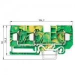 Заземителна клема WKFN 16 D1/2/SL/35, 16 mm², Жълто-зелена