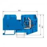 Проходна пружинна клема WKF 35/35, 35 mm², Синя