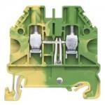 Заземителна клема WT 4 PE, 4 mm², Жълто-зелена
