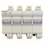 Държач за стопяем предпазител LV, 125 A, AC 690 V, 22 x 58 mm, 4P, IEC