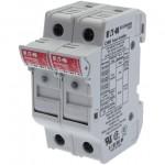 Държач за стопяем предпазител LV, 32 A, AC 690 V, 10 x 38 mm, 2P, UL, IEC, индикиращ, за монтаж на DIN шина