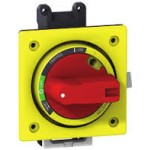 Директна въртяща ръкохватка, червена с жълт щит, за EZC100