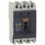 Автоматичен прекъсвач с лят корпус EasyPact, 18 kA, 80 A, 3P, Термо-магнитна защита