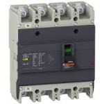 Автоматичен прекъсвач с лят корпус EasyPact, 25 kA, 200 A, 4P/4T, Термо-магнитна защита