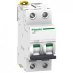 Миниатюрен автоматичен прекъсвач iC60H, 2P, 0.5 A, D, 10 kA