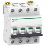 Миниатюрен автоматичен прекъсвач iC60H, 4P, 4 A, C, 10 kA