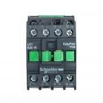 Контактор EasyPact TVS, 3P с (1 N/O) допълнителни контакти, 220V AC 60 Hz, 25A