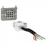 Допълнителен конектор с 9 проводника (фиксиран + изваждаем), за ръчно свързване