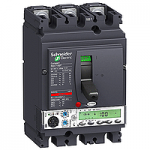 Автоматичен прекъсвач, лят корпус NSX100 Micrologic 5.2 A (LSI защита, амметър), 100 A, 3P/3d, F