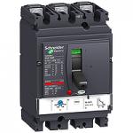 Автоматичен прекъсвач, лят корпус NSX160 Термо-магнитна защита, 100 A, 3P/3d, N