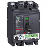 Автоматичен прекъсвач, лят корпус NSX160 Micrologic 5.2 A (LSI защита, амметър), 100 A, 3P/3d, F