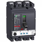Автоматичен прекъсвач, лят корпус NSX160 Micrologic 2.2 M (LSoI защита за мотори), 100 A, 3P/3d, N