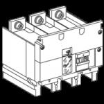 Връзка за 4P модул за следене на изолацията за 3P прекъсвач NSX 400/630