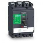 Автоматичен прекъсвач, лят корпус CVS160B, 25 kA, 100 A, 3P/3d, Термомагнитна защита