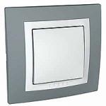 Сглобен еднополюсен ключ 10 A 250 V, Техническо сиво/Бял