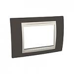 Тримодулна рамка италиански стандарт Unica Plus IT, Слонова кост/Какао