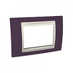 Тримодулна рамка италиански стандарт Unica Plus IT, Слонова кост/Гранит