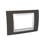 Тримодулна рамка италиански стандарт Unica Plus IT, Бял/Какао