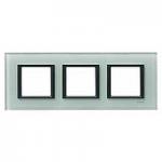 Тройна рамка Unica Class, Кристално сиво