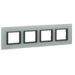 Четворна рамка Unica Class, Кристално сиво